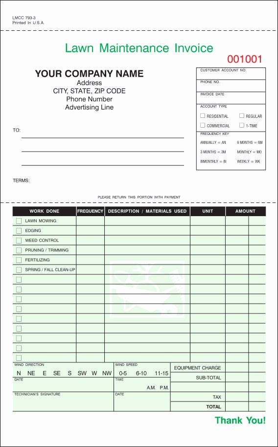Lawn Care Invoice Template Inspirational Free 9 Lawn Care Invoice Samples & Templates In Pdf