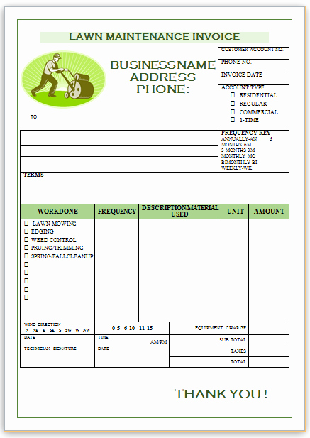 Lawn Care Invoice Templates Best Of Landscaping Invoice Template 1