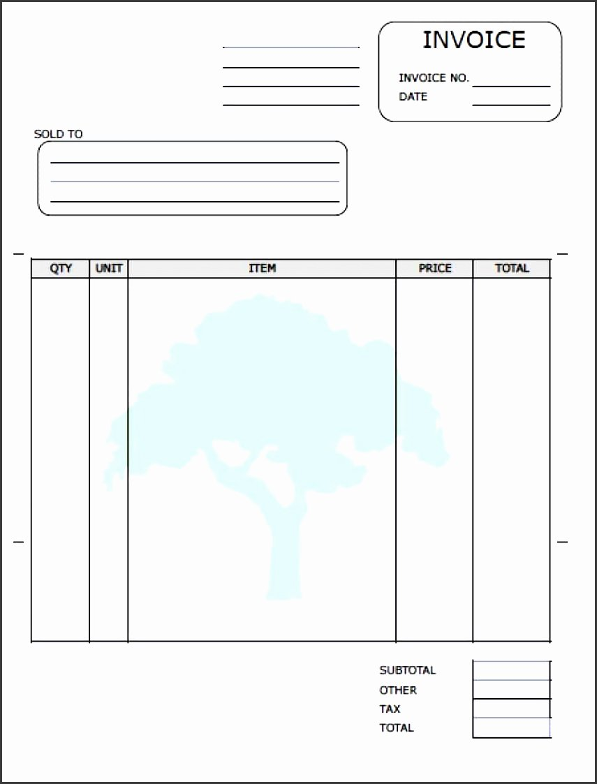 lawn care invoice template