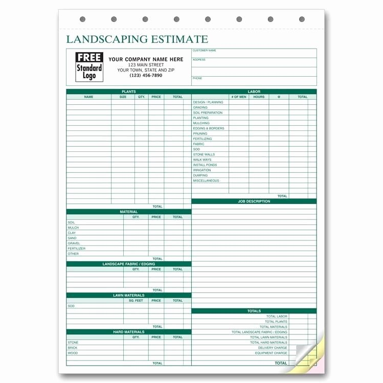 Lawn Care Invoice Templates Lovely Lawn Care Invoice form