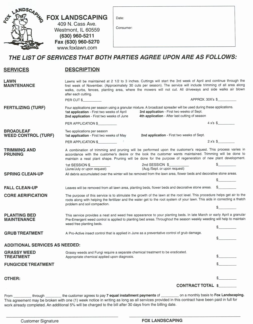 Lawn Service Contract Template Awesome Landscaping Contracts Landscaping Contracts Landscape