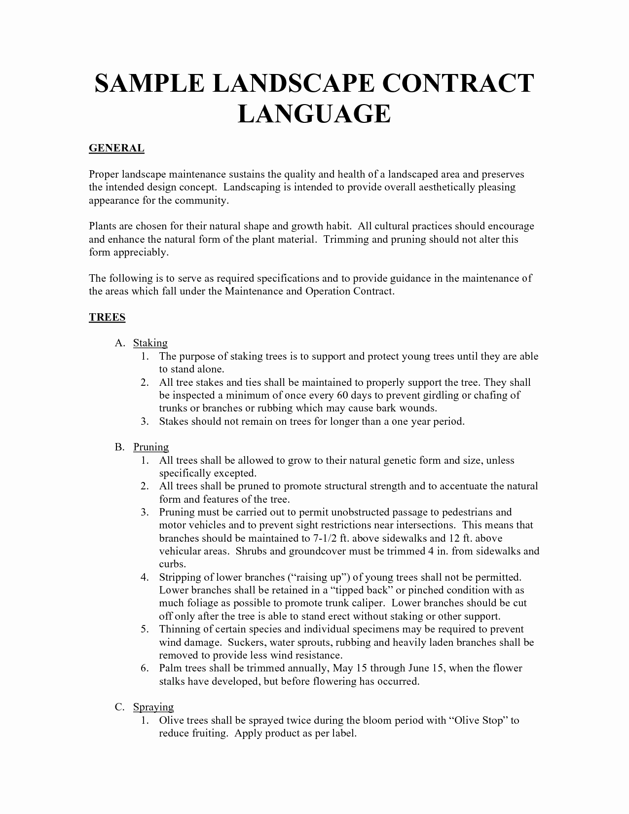 Lawn Service Contract Template Luxury Lawn Service Contracts Templates