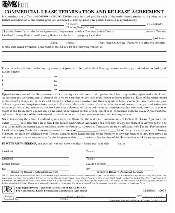Lease Termination Agreement Template Elegant 15 Mercial Lease Agreement Samples Word Pdf