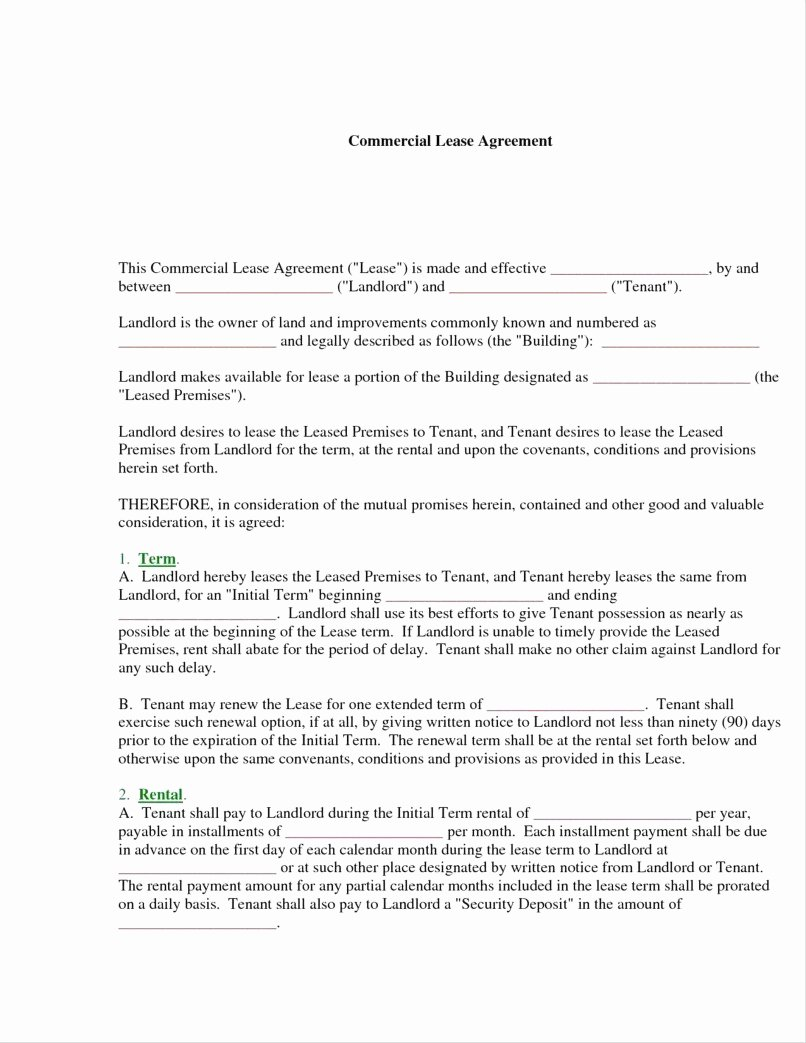 Lease Termination Agreement Template Free New 12 13 Mercial Lease Renewal Letter