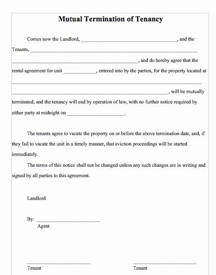 Lease Termination Agreement Template Lovely 47 Eviction Notice Templates & Sample Letters Free
