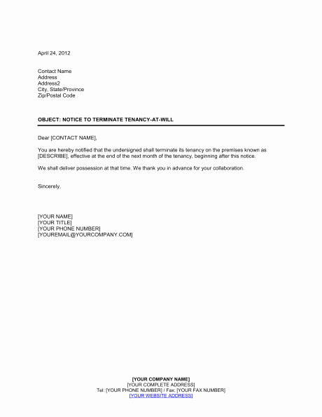 Lease Termination Agreement Template New Termination Lease Letter