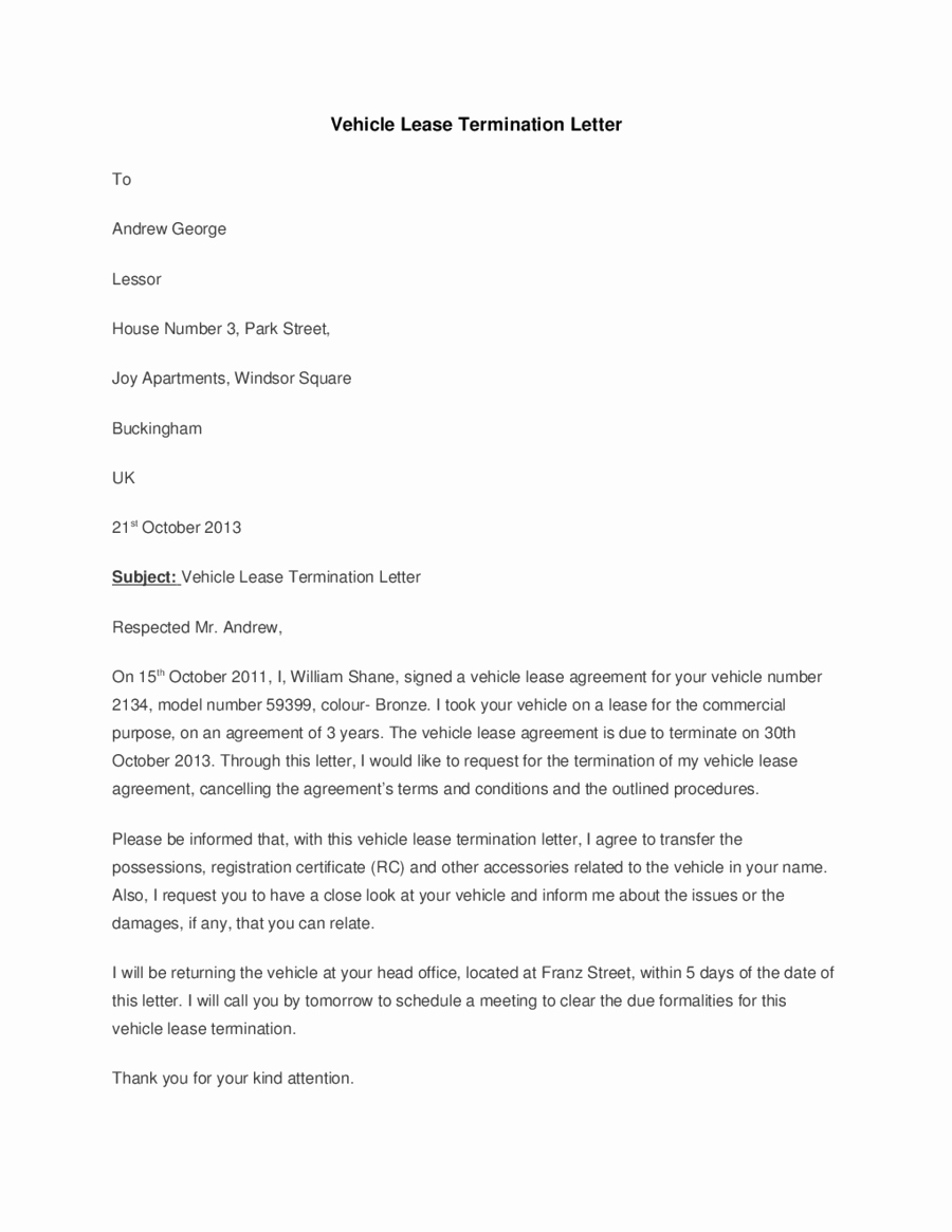 Lease Termination Letter Template Awesome 2019 Lease Termination form Fillable Printable Pdf