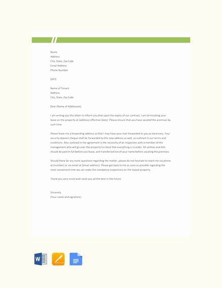 Lease Termination Letter Template Elegant 7 Sample Landlord Lease Termination Letters Pdf Word
