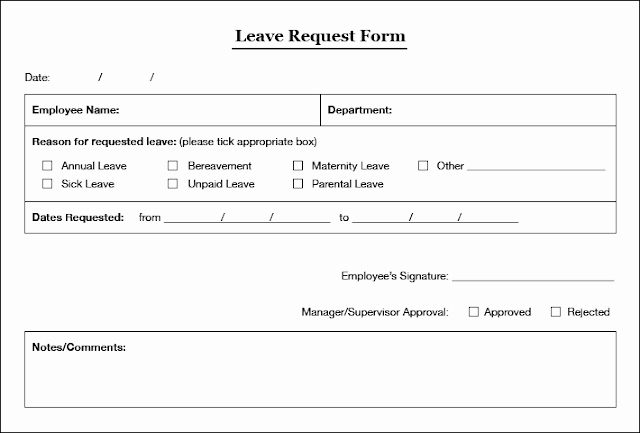 Leave Request form Template Beautiful Pin by Denise Govender On Leave Request