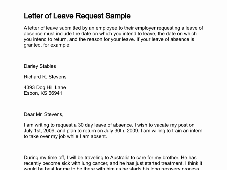Leave Request form Template Best Of Leave Request Email to Manager
