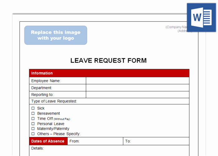 Leave Request form Template Inspirational Leave Request form Future Ceos