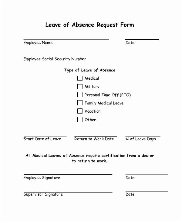 Leave Request form Template Lovely Free 16 Leave Request forms In Samples Examples formats