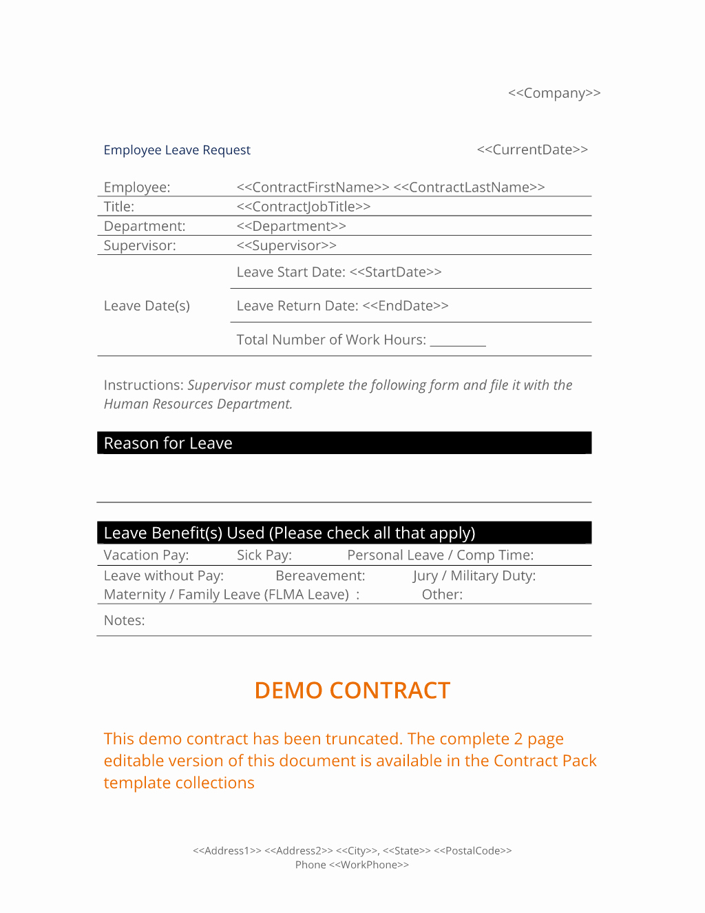 Leave Request form Template New Employee Leave Request form 3 Easy Steps