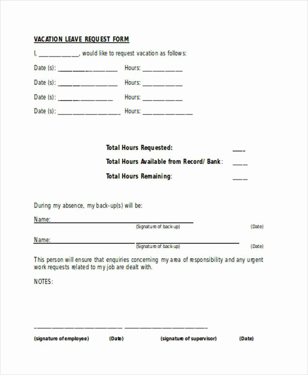 Leave Request forms Templates Beautiful Free 36 Request forms In Word