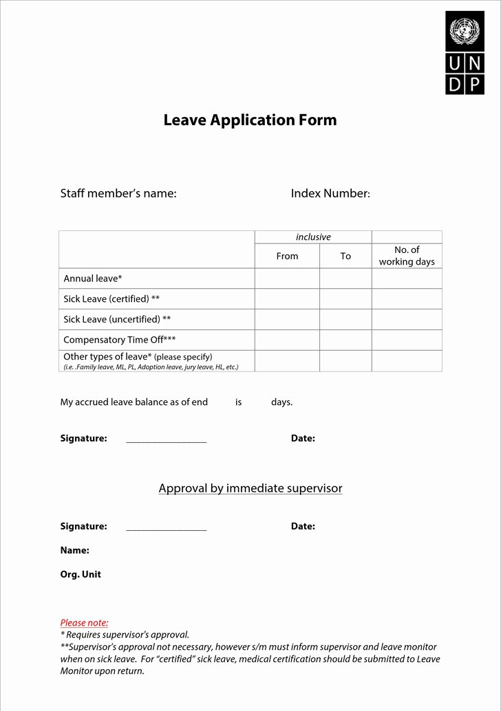 Leave Request forms Templates Inspirational Application for Leave