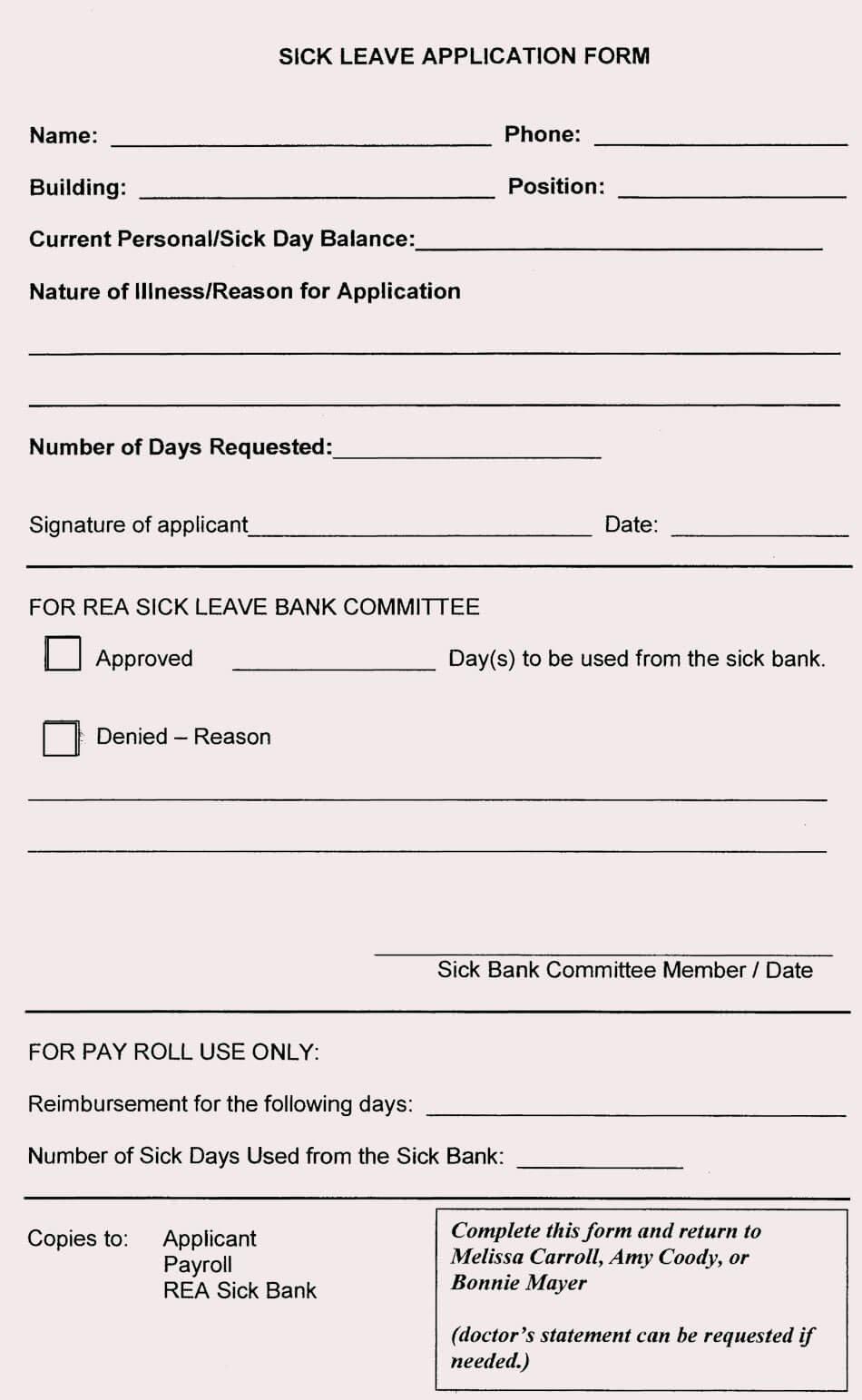 Leave Request forms Templates Unique Blank Leave Application form Templates 8 Pdf Samples