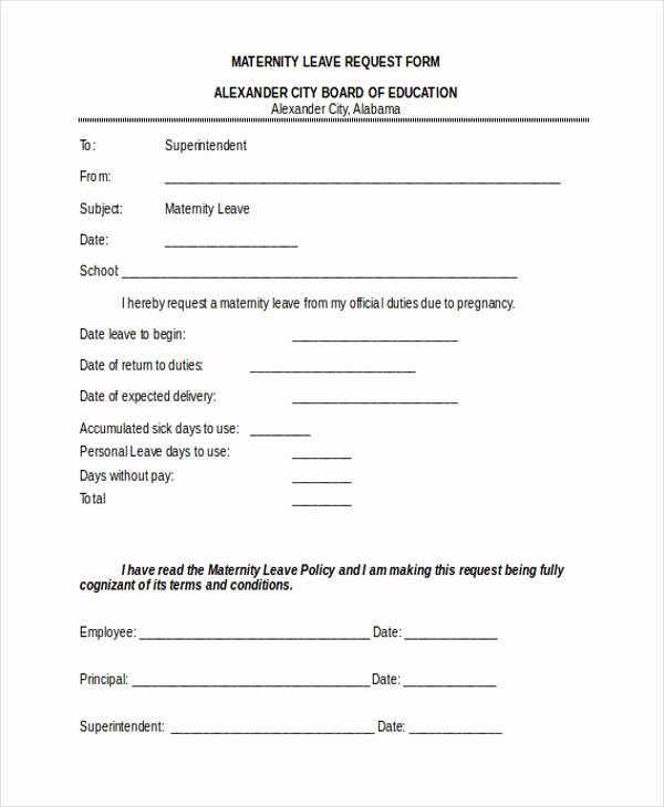 Leave Request forms Templates Unique Free 10 Sample Leave Request forms In Pdf
