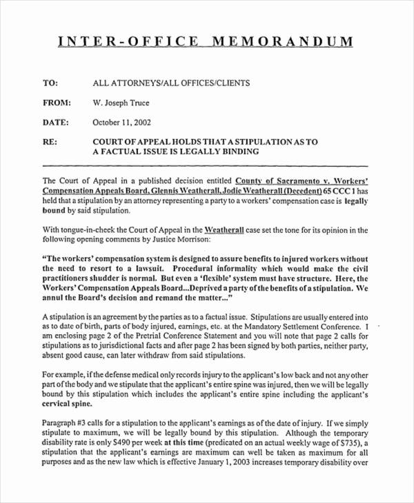 Legal Memorandum Template Word New Free 16 Interoffice Memorandum Examples & Samples In Pdf