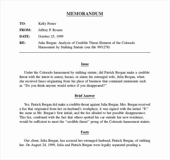 Legal Memorandum Template Word Unique Legal Memo Template 13 Word Excel Pdf Documents