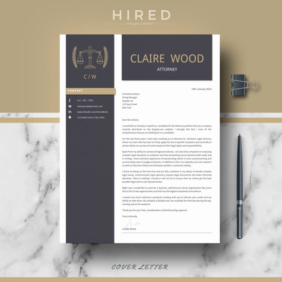 """Legal Resume Template Word Best Of Legal Resume Template for Ms Word """"claire"""""""