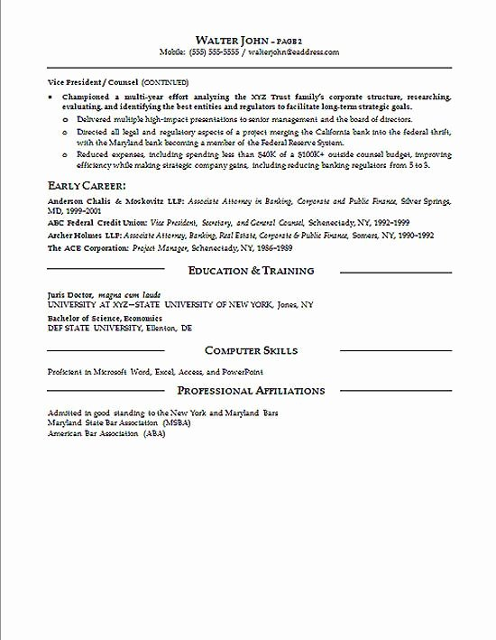 Legal Resume Template Word Inspirational General Counsel Resume Example