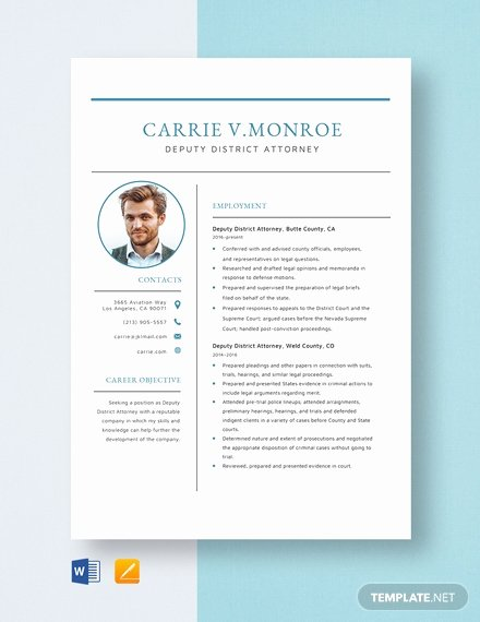 Legal Resume Template Word Lovely Deputy District attorney Resume Template Word