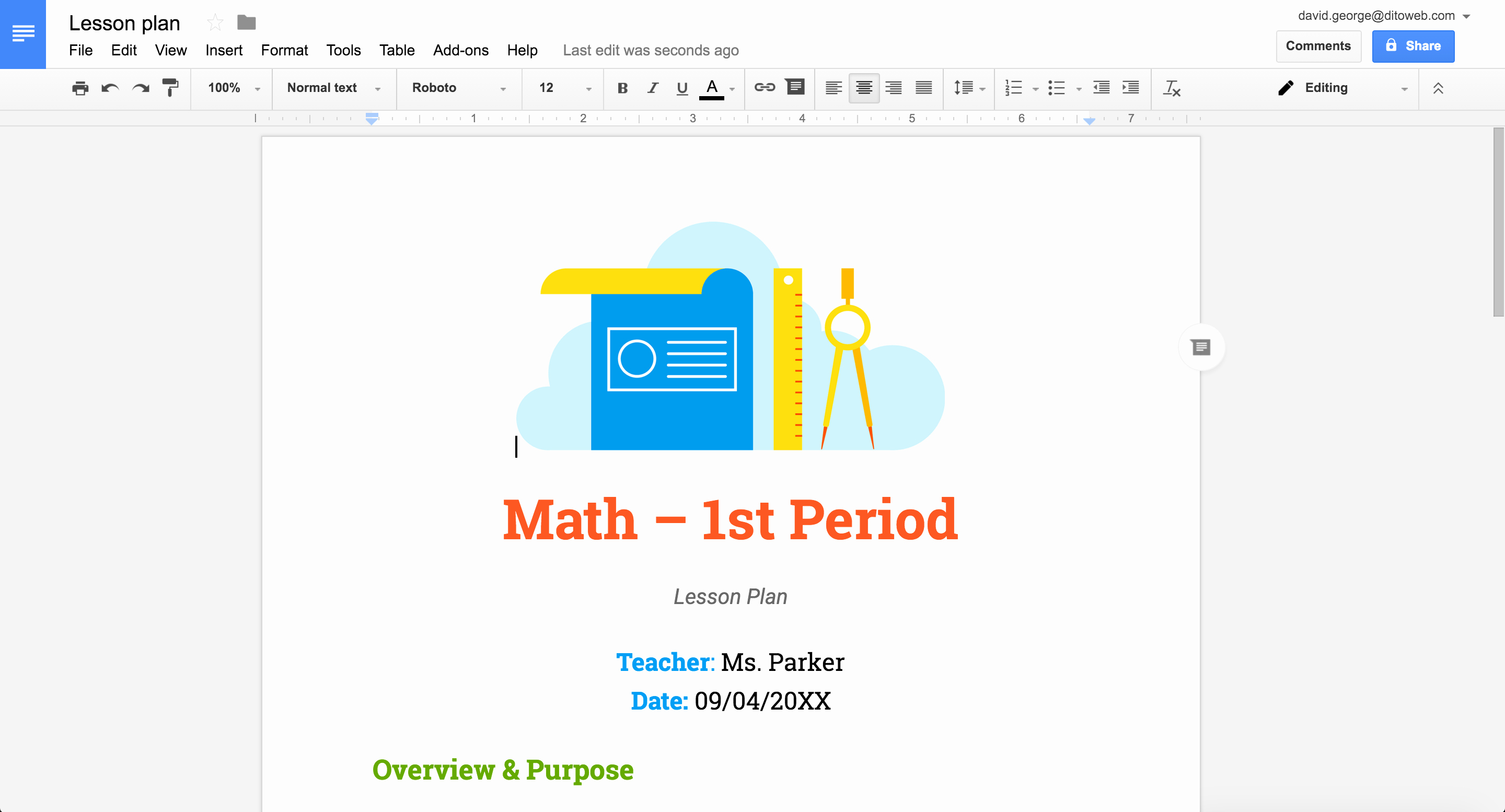 Lesson Plan Template Doc Lovely New Professionally Designed Templates for Docs Sheets
