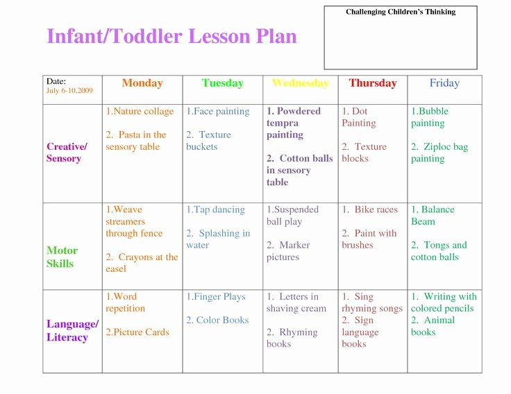 Lesson Plan Template for toddlers Lovely 53 Best Lesson Plan forms Images On Pinterest