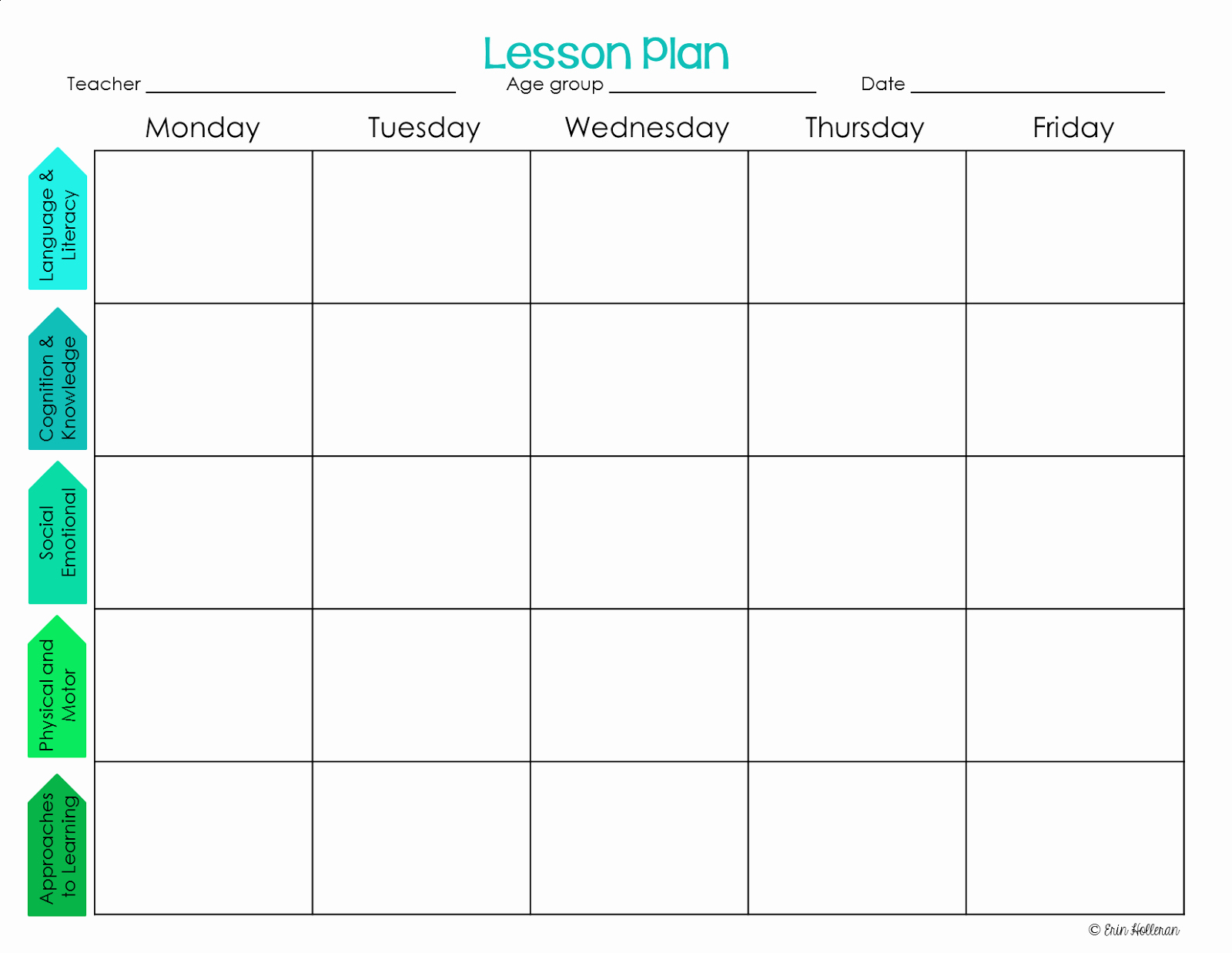 Lesson Plan Template for toddlers Lovely Preschool Ponderings Make Your Lesson Plans Work for You