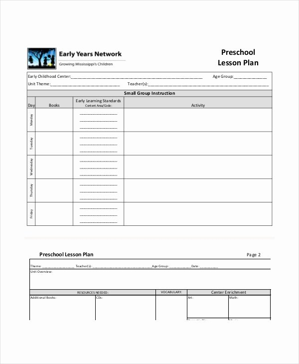 Lesson Plan Template Preschool Lovely Preschool Lesson Plan Template 10 Free Word Pdf Psd