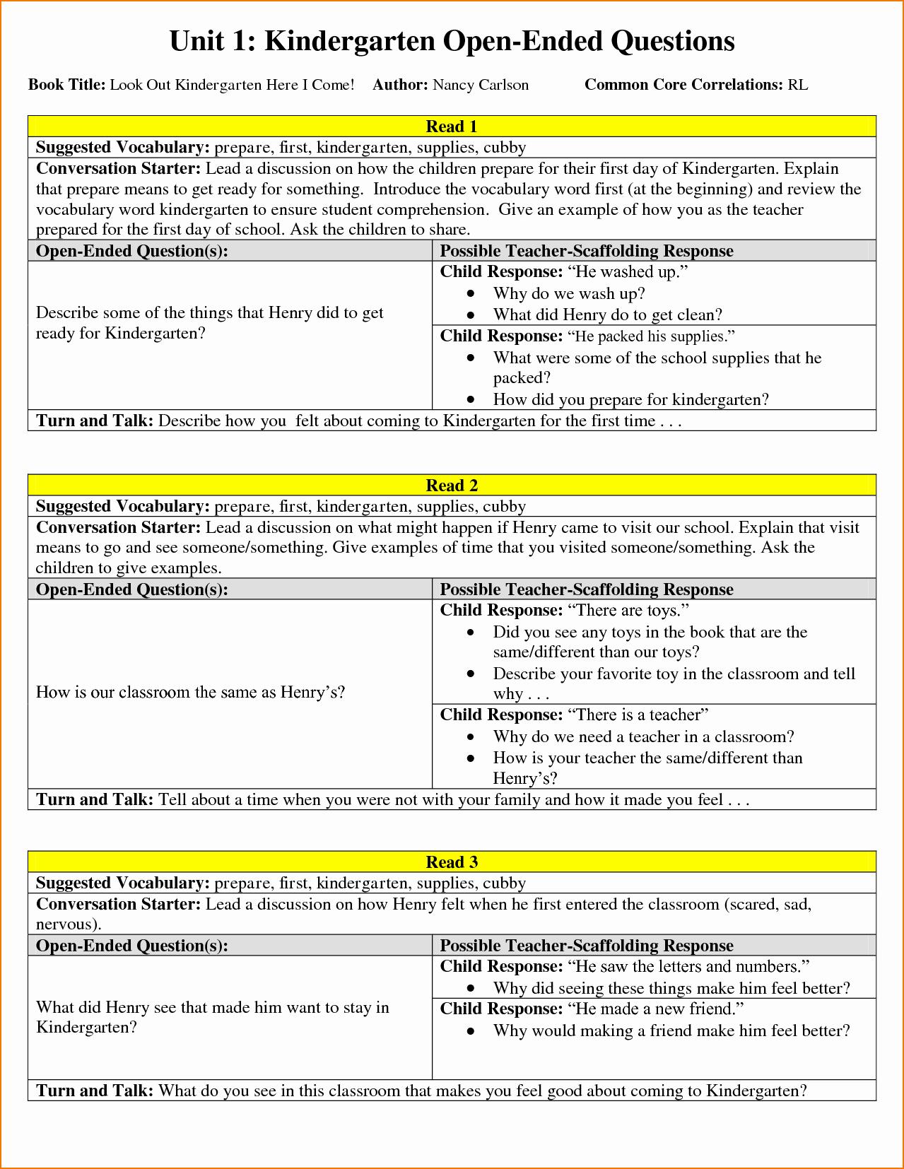 Lesson Plan Templates for Kindergarten Beautiful 3 Kindergarten Lesson Plan Template