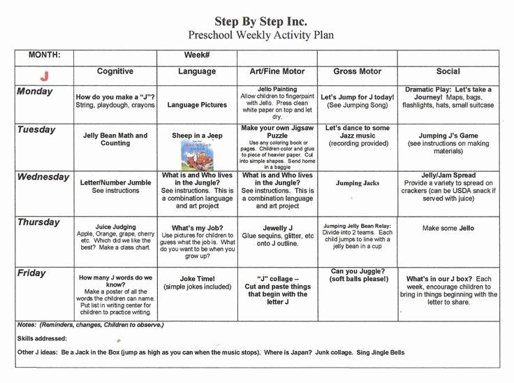 Lesson Plan Templates for Kindergarten Beautiful Emergent Curriculum Preschool Lesson Plan Template