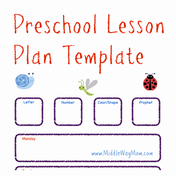 Lesson Plan Templates Preschool Awesome Free Preschool Lesson Plan Template Life Of A Homeschool Mom