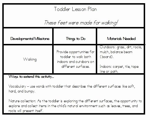 Lesson Plans Template for toddlers Best Of toddler Lesson Plan Tidbits