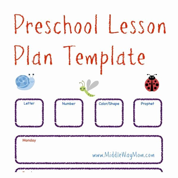 Lesson Plans Template for toddlers Fresh Make Preschool Lesson Plans to Keep Your Week Ready for