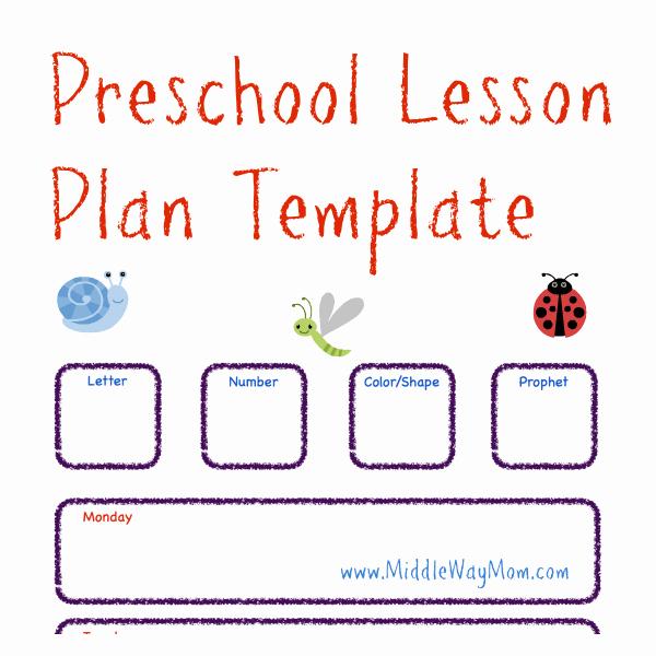 Lesson Plans Templates for Preschool Elegant Preschool Lesson Plan Template