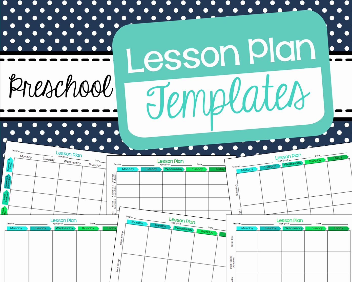 Lesson Plans Templates for Preschool Fresh Free Preschool Lesson Plan Templates