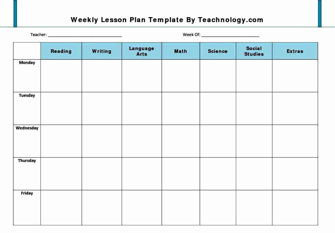 Lesson Plans Templates for Preschool Inspirational Preschool Lesson Plan Template