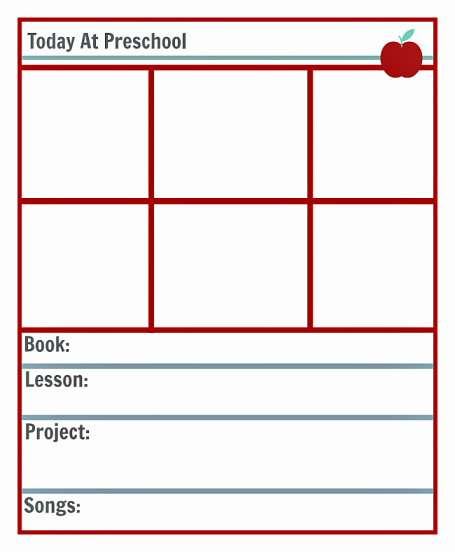 Lesson Plans Templates for Preschool Luxury Printable Lesson Plan Template for Preschool