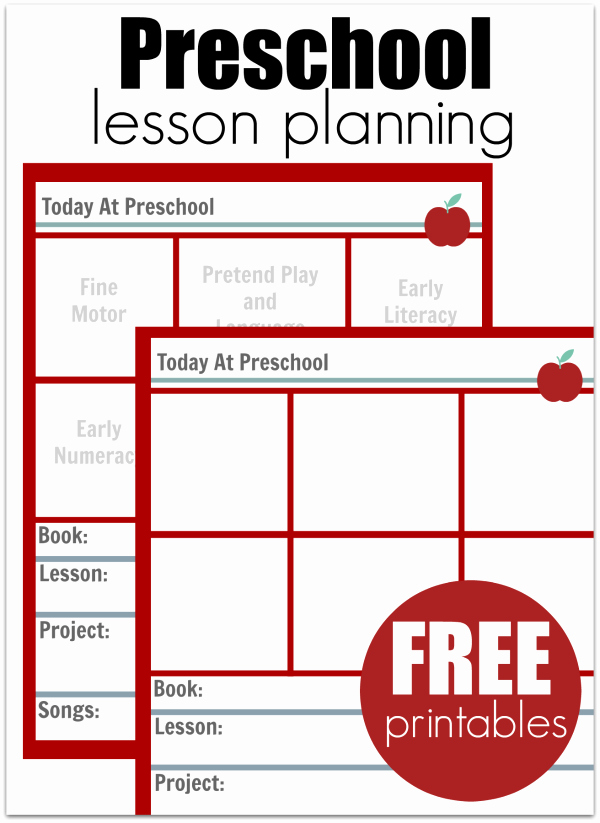 Lesson Plans Templates for Preschool New Preschool Lesson Planning Template Free Printables