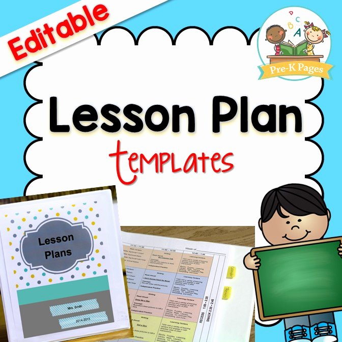 Lesson Plans Templates for toddlers Awesome Lesson Plan Template Pre K Pages