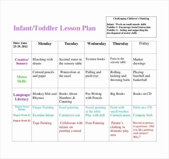 Lesson Plans Templates for toddlers New 59 Lesson Plan Templates Pdf Doc Excel