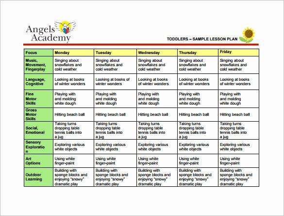 Lesson Plans Templates for toddlers Unique Nursery School Lesson Plans thenurseries