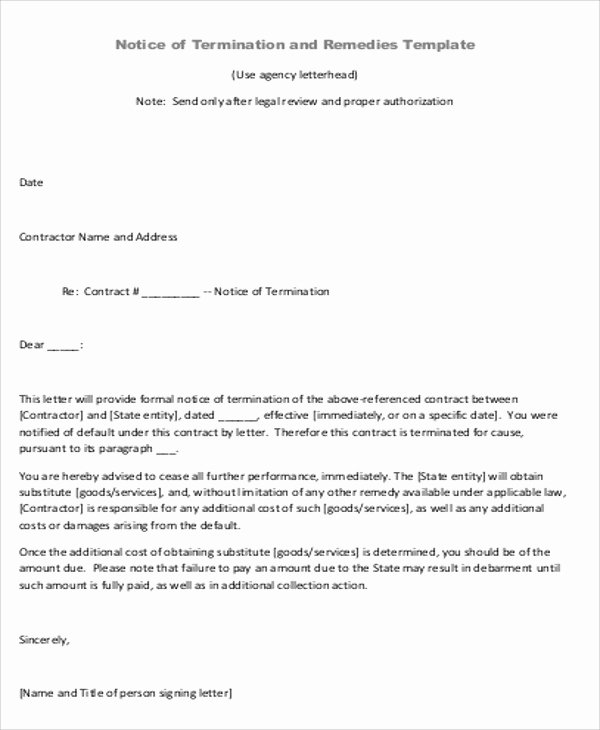 Letter Of Agreement Template Awesome Sample Contract Agreement Letter 9 Examples In Word Pdf