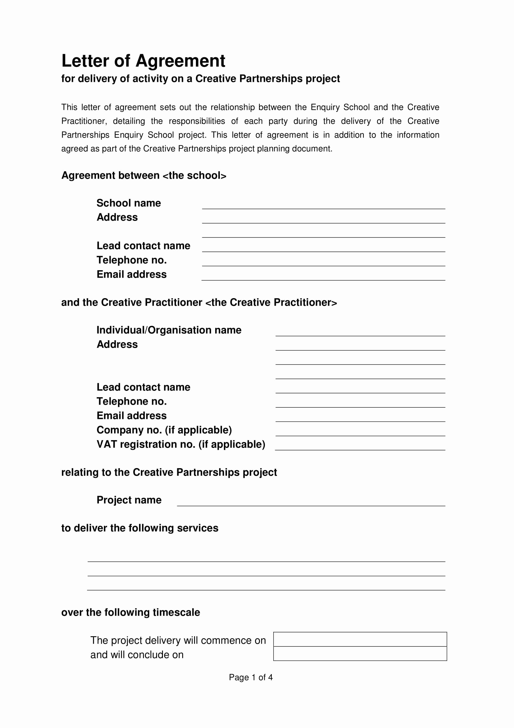 Letter Of Agreement Template Beautiful 22 Letter Of Agreement Examples Pdf Doc