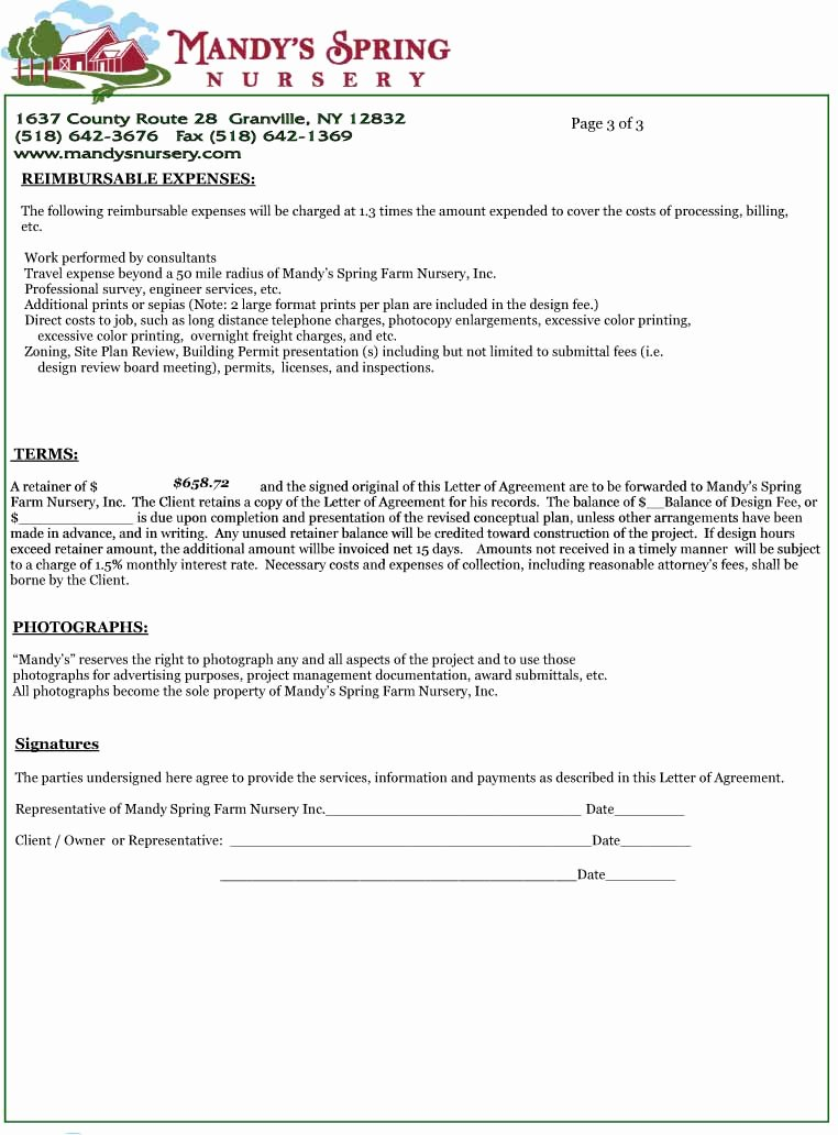 Letter Of Agreement Template Unique Letter Agreement Free Printable Documents