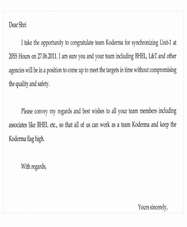 Letter Of Appreciation Template Best Of Appreciation Mails