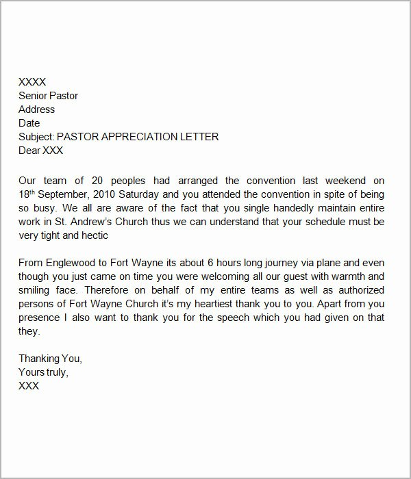 Letter Of Appreciation Template Elegant Free 27 Sample Thank You Letters for Appreciation In Pdf