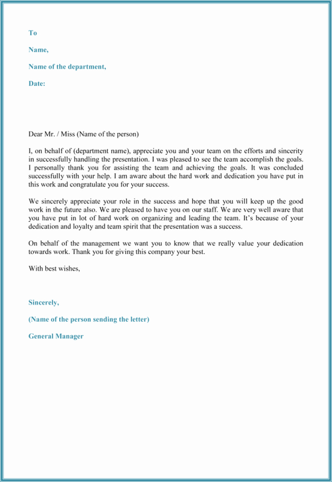 Letter Of Appreciation Template Lovely 15 Best Appreciation Letter Samples and Email Examples