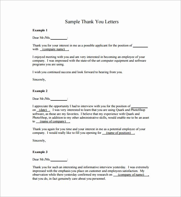 Letter Of Appreciation Template Lovely Free 27 Sample Thank You Letters for Appreciation In Pdf